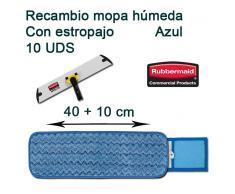 Recambio Mopa Microfibra Húmeda Con Estropajo Rubbermaid 40 cm