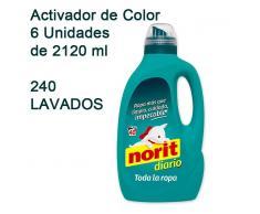 Tempo Nature 6 Garrafas Detergente Norit diario 2120ml