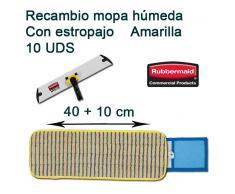 Recambio Mopa Microfibra Amarilla Con Estropajo Rubbermaid 40 cm