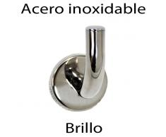 Percha de gancho acero inoxidable brillo