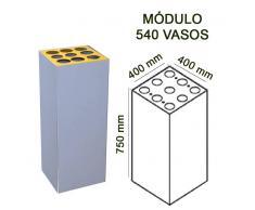 Papelera de reciclaje módulo 75x30x30 cm 540 vasos