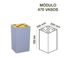 Papelera de reciclaje módulo 50x30x30 cm 470 vasos