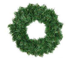 Kentop Corona de Navidad Artificial Tannenkranz, Corona de Adviento, Verde, Aguja Blanda, PVC, diámetro Aprox. 40 cm, Ø40CM