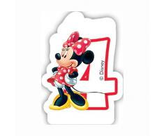 Partido Ênico Cafe Disney Minnie Mouse cuarto cumpleaños Vela