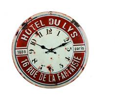 Reloj de pared de metal Retro Hotel du Lys 40 cm