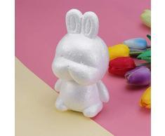 Amosfun 2 Piezas Conejo de Pascua Conejo Espuma Molde Modelado Escultura Espuma de Poliestireno Forma DIY Artesanía Modelado Espuma Pascua Decoración de Fiesta de Vacaciones