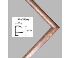 Easy Marco de plástico Para cuadros y pósteres 58x82 cm 82x58 cm Color selecionado: Marrón y dorado moteado Con vidrio acrílico