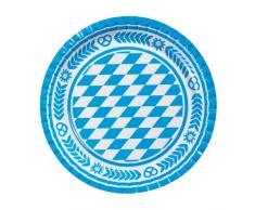 Susy Card 11095585 - Plato (23 cm, 10 unidades), diseño de rombos del escudo de Baviera