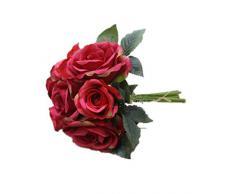 DAYAN Ramo Artificial Rosa Flor Para Casa Boda Jardín Decoración color rojo
