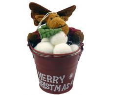 Cubo de renos colgantes decoración de árbol de Navidad (CC8)