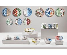 Seletti-Plato Decorativo Híbrido Postre. Color: Multicolor. Medidas: 25X25X3.5
