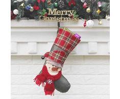 thematys Calcetín de Navidad Medias para Rellenar y Colgar en 10 diseños Diferentes - la decoración navideña (9)