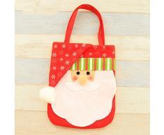 Ruikey Bolso del caramelo de la Navidad Bolso de la bolsa del regalo de Papá Noel de Nonwovens de Navidad presente para las vacaciones de Navidad Decoraciones de la casa