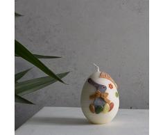Pequeño EI Vela Huevos de Pascua 90 x 70 mm color crudo