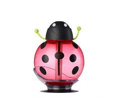SMARTLADY Escarabajo Mini Aroma LED Humidificador para Familia Coche Belleza Hidratante Spray de Aire Purificador de Aire Ambientador (Rojo)