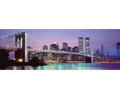 Empire Merchandising Skyline - Póster de Nueva York (Incluye 20 Adhesivos para fijación a Pared Tesa)