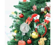 Uten 20 x Bolas de Navidad Forma Redonda Plástico Transparente para Decorar el arbol de Navidad no Incluye Cuerda. (10cm)