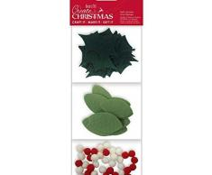 Corona de Adviento recortes de fieltro y Bobble Set (80ks), West Design Products Limitado, fieltro decoraciones, adornos, papel de álbum de recortes
