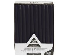 PAPSTAR 10392 - Velas (50 Unidades, 2,2 x 25 cm), Color Negro