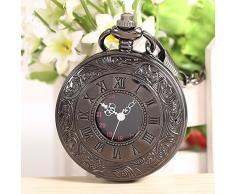 Bei wang Steampunk Bolsillo Número pendiente del reloj novela Cadena Medio cazador + Regalo