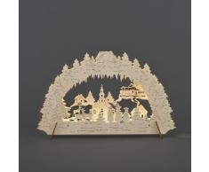 Konst Smide 1068-010 - Guirnalda LED para el árbol de navidad (velas de luz, 10 diodos de cálida luz blanca, 4,5 V, 3 pilasAA), color blanco