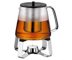 WMF 0636306040 TeaTime - Juego de té (2 piezas: tetera y calentador de vela)