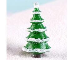 LIOOBO 14 Piezas Kit de Adornos en Miniatura de Navidad Mini árbol de Navidad decoración de Pueblo de Invierno figuritas Accesorios de decoración de casa de muñecas de jardín de Hadas