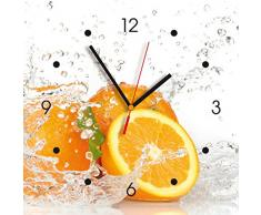 Reloj de pared de cocina - naranja