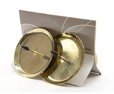 4 pieza Advent Soporte de vela (6 cm Oro Advent velas de corona de Adviento