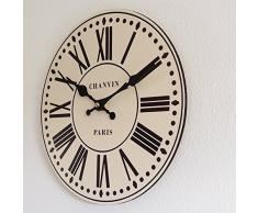 Perla PD Diseño reloj de pared Reloj de cocina vintage diseño chanvin Paris Diámetro 28 Cm