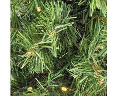 Artplants Mini árbol de Navidad VARSOVIA con Leds, Dorado, 60 cm, Ø 40 cm - Abeto Artificial/Pequeño Abeto Decorativo