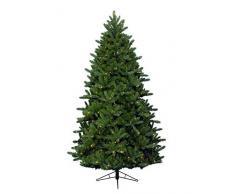 Kaemingk 678772 Bergen Spruce Easy - Árbol de Navidad artificial (polietileno y PVC, 210 cm), color verde y blanco