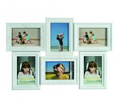 Blanco Vintage estilo barroco Marco para 6 fotos en 10 x 15 cm/10,16 cm x 15,24 cm