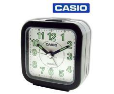Casio TQ-141-1EF - Reloj analógico - digital de caballero manual con correa de acero inoxidable plateada (alarma)