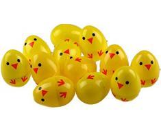 Conjunto de 24 Chick plástico Sorpresa Huevos - Llenar De Pascua CAZA REGALOS
