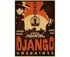 Póster de la serie Quentin Tarantino con cadena de película Django E082,42 x 30 cm