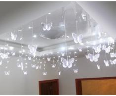 ZeleSouris 95 LEDs Mariposa Cadena de luces de LED nueva forma de mariposa Guirnalda luminosa de LED Luces para decoración de Navidad fiestas bodas festivales (blanco)