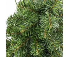 artplants.de Mini árbol de Navidad VARSOVIA, Verde, Rojo, 90cm, Ø 50cm - Abeto Artificial - Pequeño Abeto Decorativo