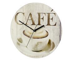WENKO 25330100 Reloj del pared Café, Vidrio endurecido, 27 x 3 x 27 cm, Multicolor