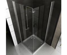 Esquina de ducha Marco múltiple Vidrio Mampara De Ducha 80 X 80 X 195 entrega gratuita/esquina. Ducha cabina/cristal de seguridad Mampara plegable drehtür Mampara ducha pared