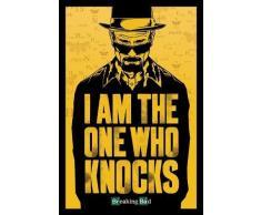 Breaking Bad (Volviéndose malo). Poster PLASTIFICADO en INGLES de la serie de televisión en que se muestra a Heisenberg protagonista de la serie. Es un Maxi Poster con unas medidas aproximadas de 91,5 x 61 cm.