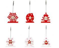 6PCS Soporte de Tarjeta de Mesa Soporte de Tarjeta de Lugar Encantador Soporte de Clip de Foto para Navidad -for para Ambiente navideño