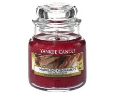 Yankee Candle Vela en un Vaso Doze, Espumoso de Canela, Rojo, Small