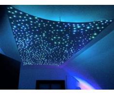Tira LED Luz, Lámpara LED de fibra óptica, función de memoria, RGB LED 5W 2M 16 Colores, bajo consumo, ahorro de energía, Decoración de Navidad, Halloween y otras fiestas