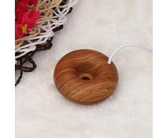 Koly Inicio Mini humidificador de anillos de espuma USB flotadores en el ambientador de aire de agua (marrón)