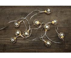 Guirnalda de Navidad con bolas de espejos