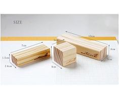 sfghouse 10 pcs creativo de madera Nota Clip soporte mesa número lugar tarjeta de nombre memo Foto titulares 3 tamaño disponible, madera, Blanco, large