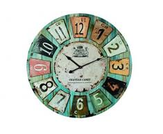 Out of the blue 79/3173 Chateau - Reloj de Pared de Madera