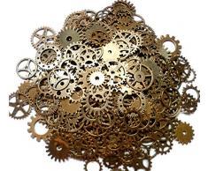ASVP Shop - Engranajes de reloj de estilo retro para hacer manualidades, 100 g, color oro