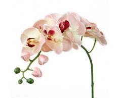 Artificial Orquídea Mariposa Flor Planta de Imitación Decoración del Hogar Boda Fiesta (Rosa)